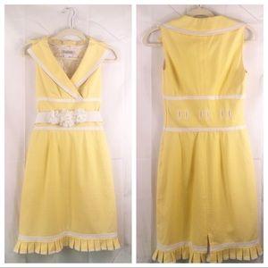 Yellow Kay Unger New York yellow dress, size 2